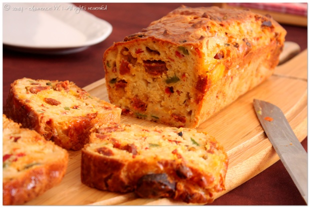 Cake Au Chorizo Et Poivron Rouge